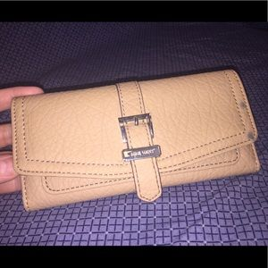 Nine West's Beige Simulated Leather Wallet